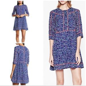 EUC French Fonnection Confetti Grid Printed Dress